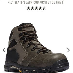 Danner steel toe boots.